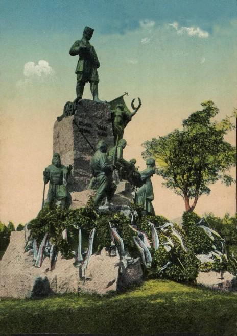 Spomenik Karađorđu Petroviću rad Paška Vučetića, fotografija iz 1913.godine