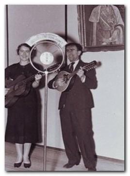 Lela Đorđević i Sima Begović u studio Radio Beograda