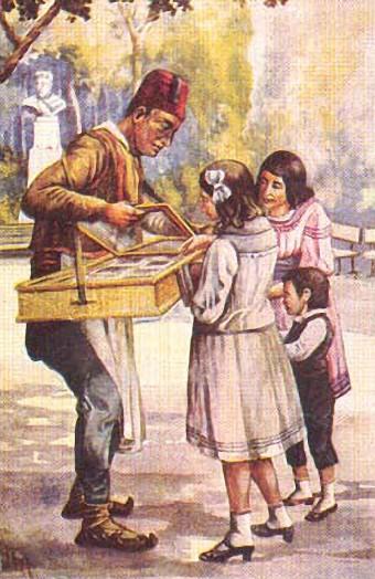 Prodavac šećerlema u Kalemegdanskom parku